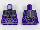 Part No: 973pb2967  Name: Torso Armor with Black, Silver, and Lavender Details Pattern
