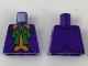 Part No: 973pb3006  Name: Torso Batman Suit with Orange Vest and Green Bow Tie Pattern (The Joker)