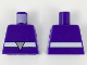 Part No: 973pb3328  Name: Torso, White Belt, Light Bluish Gray Triangle Buckle Pattern