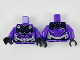Part No: 973pb3471c01  Name: Torso Black Upper Chest Plate and Scale Lines, Silver Belt Pattern / Dark Purple Arms / Black Hands
