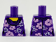 Part No: 973pb3658  Name: Torso Female with White and Lavender Flowers Pattern