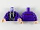 Part No: 973pb3673c01  Name: Torso Jacket, White Shirt, Black Tie and Silver Camera with Black Strap Pattern / Dark Purple Arms / Light Nougat Hands