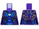 Part No: 973pb3719  Name: Torso Female Armor, White Arc Reactor, Blue Panels and Gold Trim Pattern