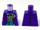 Part No: 973pb3722  Name: Torso Batman Suit with Flower, Orange Shirt, Dark Turquoise Vest and Tie with White Dots Pattern (Joker)