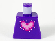 Part No: 973pb3808  Name: Torso Metal Pink Pixelated Heart with Bright Pink and Magenta Outlines Pattern