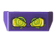 Part No: 98834pb20  Name: Vehicle, Spoiler 2 x 4 with Handle with Yellow Lights and Lime Whirpool Pattern (Sticker) - Set 76159