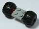 Part No: 122c01assy4  Name: Plate, Modified 2 x 2 with Wheels Red with Black Wheel Full Rubber Balloon with Axle Hole (122c01 / 4288)