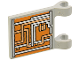 Part No: 2335ps1  Name: Flag 2 x 2 Square with Orange and Silver Circuitry Pattern