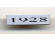 Part No: 2431pb065  Name: Tile 1 x 4 with '1928' Pattern (Sticker) - Set 10022/10025