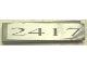 Part No: 2431pb068  Name: Tile 1 x 4 with '2417' Pattern (Sticker) - Set 10022/10025