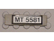 Part No: 2431pb073  Name: Tile 1 x 4 with Black 'MT 5581' on White Pattern (Sticker) - Set 5581