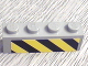 Part No: 3010pb048  Name: Brick 1 x 4 with Black and Yellow Danger Stripes Pattern (Sticker) - Set 6575
