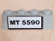 Part No: 3010pb058  Name: Brick 1 x 4 with Black 'MT 5590' Pattern (Sticker) - Set 5590