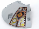 Part No: 30116pb02  Name: Panel 14 x 14 x 2 2/3 Quarter Saucer Top with UFO Pattern Right