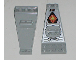 Part No: 30118pb03  Name: Wing Plate Bi-level 8 x 4 and 2 x 3 1/3 Up with Silver/Orange/Black UFO Logo Pattern