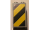 Part No: 30145pb006L  Name: Brick 2 x 2 x 3 with Black and Yellow Danger Stripes Pattern Left (Sticker) - Set 4514