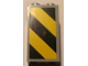 Part No: 30145pb006R  Name: Brick 2 x 2 x 3 with Black and Yellow Danger Stripes Pattern Right (Sticker) - Set 4514