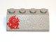 Part No: 3037px3  Name: Slope 45 2 x 4 with Red Gryphon Pattern Left