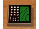 Part No: 3068bpb0028  Name: Tile 2 x 2 with Groove with Electronic Terrain Display Pattern (Sticker) - Set 8839