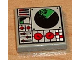 Part No: 3068bpb0080  Name: Tile 2 x 2 with Groove with Radar and Controls Pattern (Sticker) - Set 8839