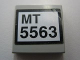 Part No: 3068bpb0350  Name: Tile 2 x 2 with Groove with 'MT 5563' Pattern (Sticker) - Set 5563