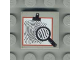 Part No: 3068px18  Name: Tile 2 x 2 with Magnifying Glass and Fingerprint Pattern