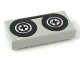 Part No: 3069bp02  Name: Tile 1 x 2 with Groove with Black Tape Reels Pattern