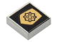 Part No: 3070bpb006  Name: Tile 1 x 1 with Groove with World City Gold Police Badge Pattern