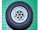 Part No: 32004ac01  Name: Wheel 68.8 x 24 Model Team Type 1 (circle holes around wheel ring) with Black Tire 68.8 x 24 ( 32004a /32003)