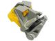 Part No: 32553c03  Name: Bionicle Head Connector Block 3 x 4 x 1 2/3 with Trans-Neon Yellow Bionicle Head Connector Block Eye/Brain Stalk (32553 / 32554)