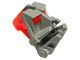 Part No: 32553c04  Name: Bionicle Head Connector Block 3 x 4 x 1 2/3 with Trans-Neon Orange Bionicle Head Connector Block Eye/Brain Stalk (32553 / 32554)