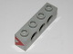 Part No: 3701pb001  Name: Technic, Brick 1 x 4 with Holes with Red Chevron Pattern on Both Sides (Stickers) - Set 8485