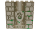 Part No: 3754pb02  Name: Brick 1 x 6 x 5 with Stone and Slytherin Snake Pattern (4735)