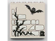 Part No: 3754pb09  Name: Brick 1 x 6 x 5 with Stone, Twig and Bat Pattern (Sticker) - Set 1382