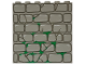 Part No: 3754px3  Name: Brick 1 x 6 x 5 with Stone and Moss Pattern