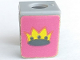 Part No: 3840pb02  Name: Minifigure, Vest with Crown on Purple Background Pattern (Stickers)  - Sets 375 / 6075