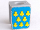 Part No: 3840pb06  Name: Minifigure, Vest with Yellow Cloves on Blue Background Pattern (Stickers) - Sets 375 / 6075