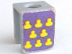 Part No: 3840pb06eu  Name: Minifigure, Vest with Yellow Cloves on Purple Background Pattern (Stickers) - Set 375-2
