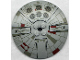 Part No: 3961px1  Name: Dish 8 x 8 Inverted (Radar) with Mini Millennium Falcon Pattern