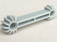 Part No: 41666  Name: Technic, Arm 1 x 7 with Gear 9 Tooth Double Bevel Ends