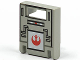 Part No: 4346px4  Name: Container, Box 2 x 2 x 2 Door with Slot and Star Wars Rebel Logo Pattern