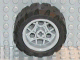 Part No: 44292c01  Name: Wheel 30.4mm D. x 20mm with 3 Pin Holes with Black Tire 43.2 x 22 H (44292 / 44308)