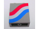 Part No: 4864apx11  Name: Panel 1 x 2 x 2 - Solid Studs with Curved Red, White and Blue Stripes Pattern Right