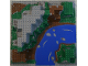 Part No: 6024px5  Name: Baseplate, Raised 32 x 32 Canyon with Brown/Green Mountain and River Rapids Pattern