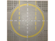 Part No: 6099px2  Name: Baseplate, Road 32 x 32 9-Stud Landing Pad with Yellow Circle, 1-way Lines Pattern