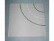Part No: 609p01  Name: Baseplate, Road 32 x 32 9-Stud Curve with Road Pattern