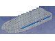 Part No: 71610pb02  Name: Boat Hull Unitary 32 x 10 x 1 2/3, Base with Coast Guard Pattern on Both Sides (Stickers)