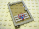 Part No: 73436c03pb02  Name: Door 1 x 4 x 5 Left with Trans-Black Glass and Coast Guard Pattern (Sticker) - Set 7047