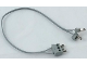 Part No: 765c28b  Name: Electric, Wire 12V / 4.5V, 24 Studs Long with two 1-prong connectors and one 2-Way Male Squared Narrow Long with Center Pin