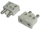 Part No: 766c01  Name: Electric, Connector, 2-Way Male Squared Narrow Long with Center Post